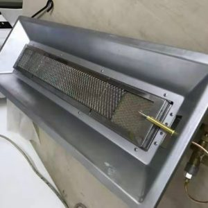 Long gas brooder for 2000 chicks